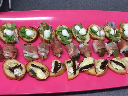Canapés for Mary Portas new shop