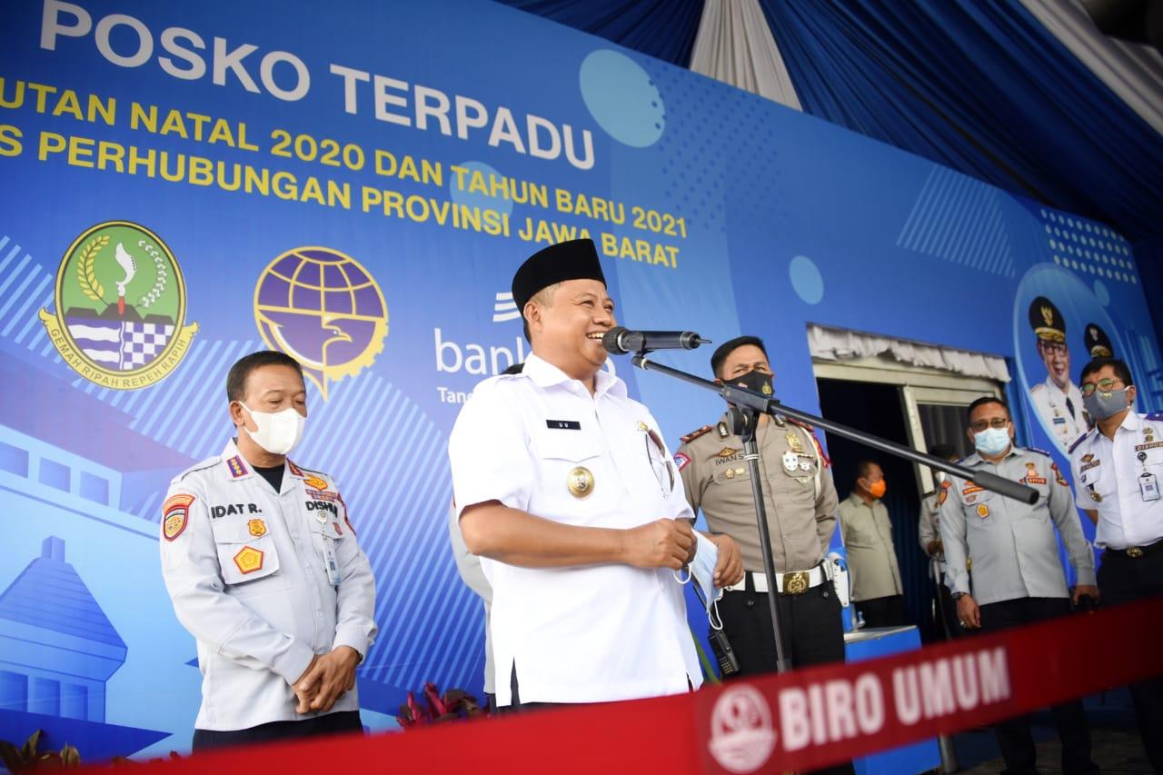 Uu Ruzhanul Cek Kesiapan Petugas Keamanan Jelang Libur Nataru
