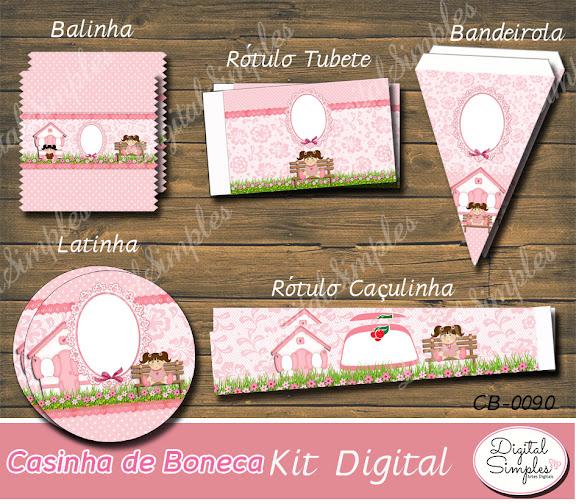 Kit Digital Casinha de Bonecas .....artesdigitalsimples@gmail.com