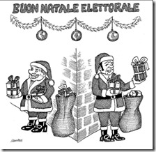 La vignetta di Giannelli con Berlusconi e Renzi