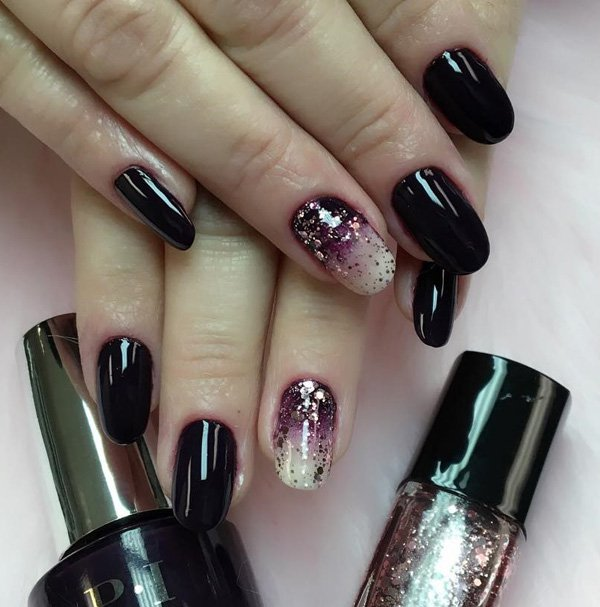 Top 25 Pretty Dark Gel Nail Art Designs Trendy 2018