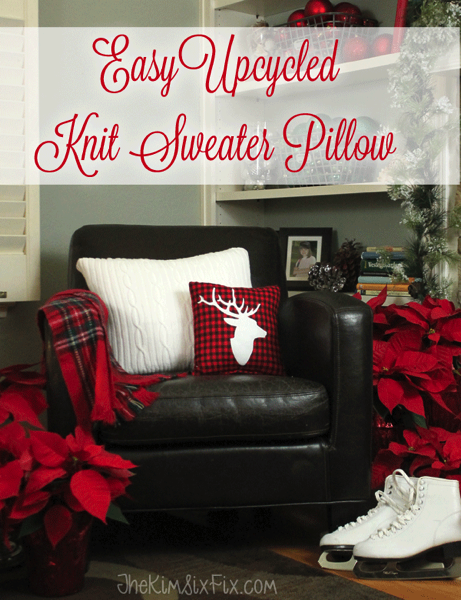 Easy Upcycled Sweater Knit Pillow