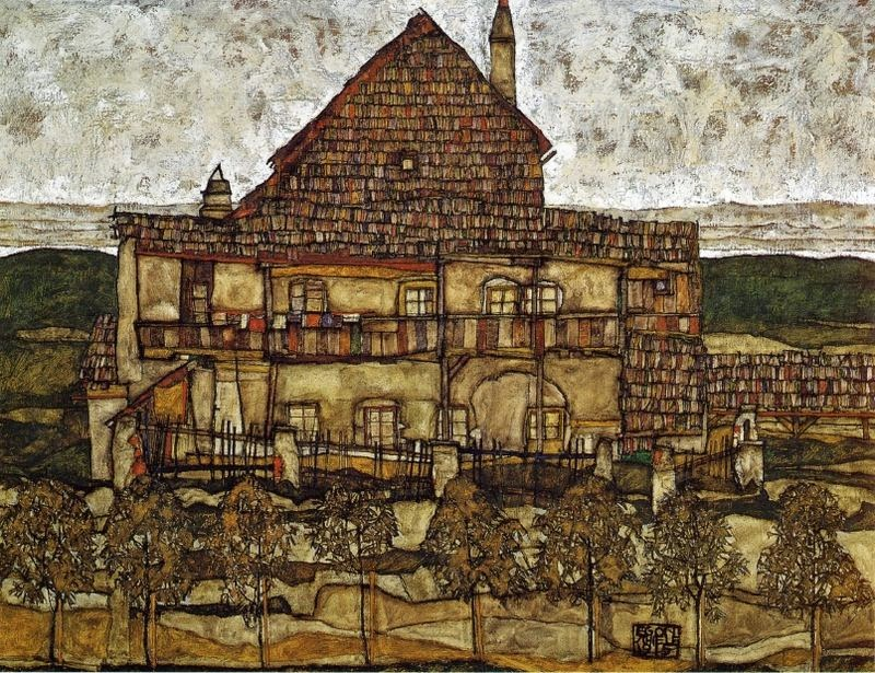 Egon Schiele - House with Shingles, 1915