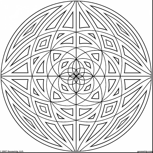 Awesome Circle Geometric Design Coloring Pages With Design Coloring Pages  And Abstract Design Coloring Pages