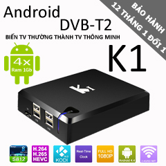 tivi box android k1 dvb-t2 1gb