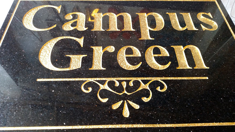 carved granite - campus green