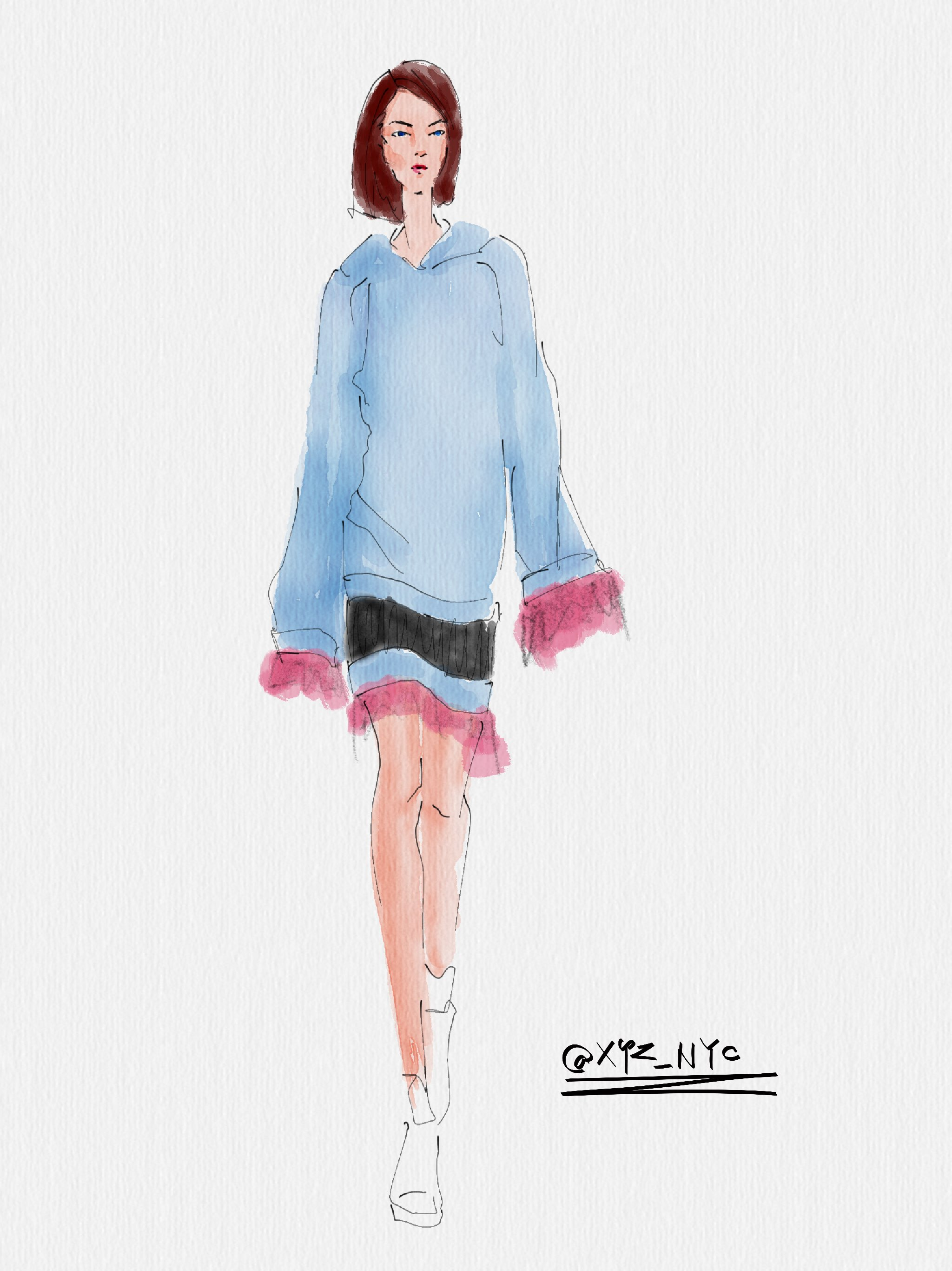 fashion illustration  made with Sketches