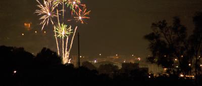 Sizilien - Silvester-Feuerwerk über Palermo