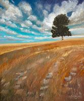"""""""Der einsame Baum"""" 60x50cm Öl auf Leinwand"""