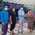Bantu Warga saat PPKM Darurat, DPK KNPI Medan Area Qurban 20 Ekor Kambing