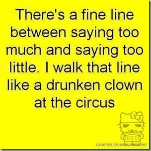 fine line between saying