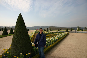 Laura on the grounds of Versailles