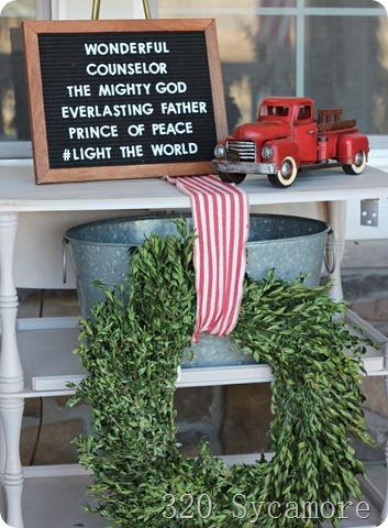 hallelujah felt letter board red truck