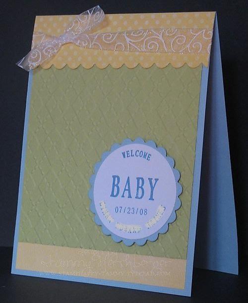 Invitación verde, amarillo y azul para baby shower