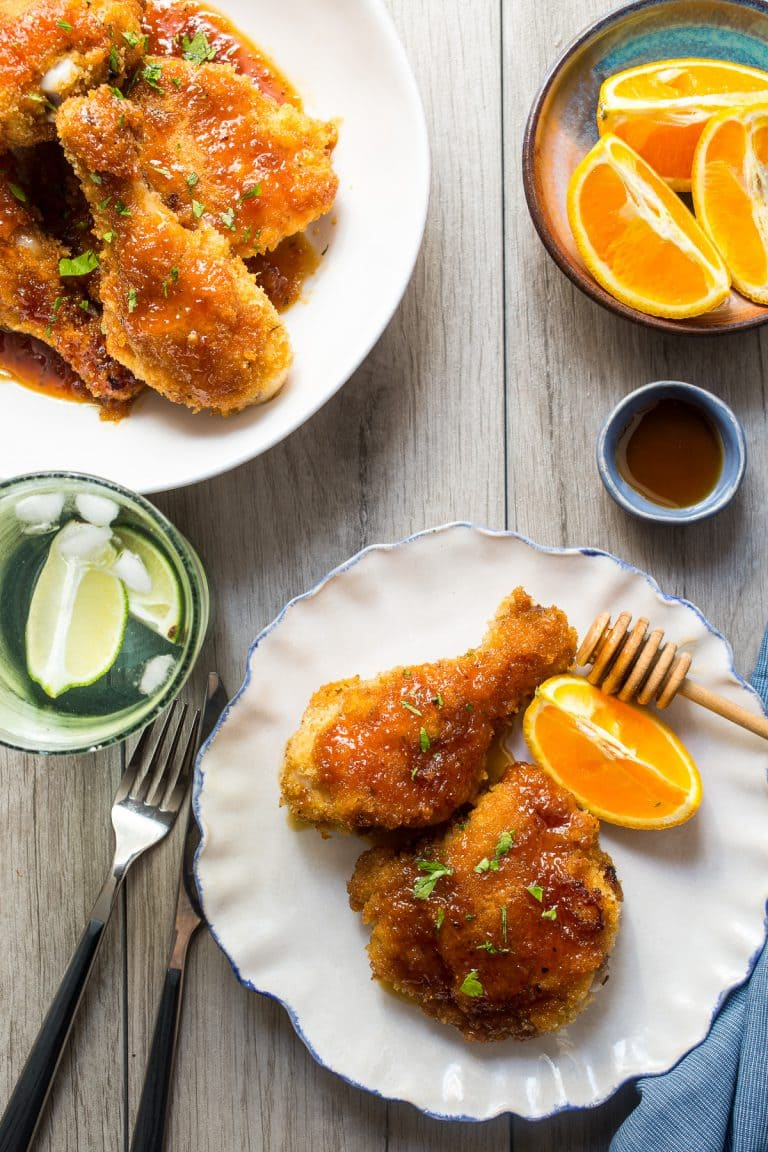WW Weight Watchers Honey Baked Chicken by Girl in the Little Red Kitchen