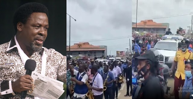 SEE The Mammoth Crowd That Lined Up On The Street To Pay Their Last Respect To TB Joshua [Video]