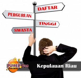 Daftar Perguruan Tinggi Swasta di Kepulauan Riau