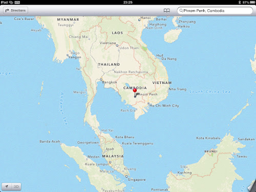 Apple Maps look at Cambodia