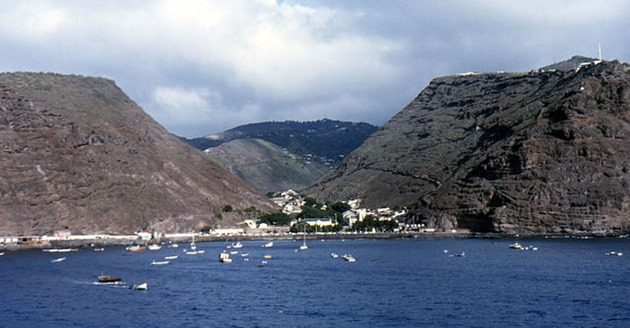 Jamestown - the capital of Saint Helena