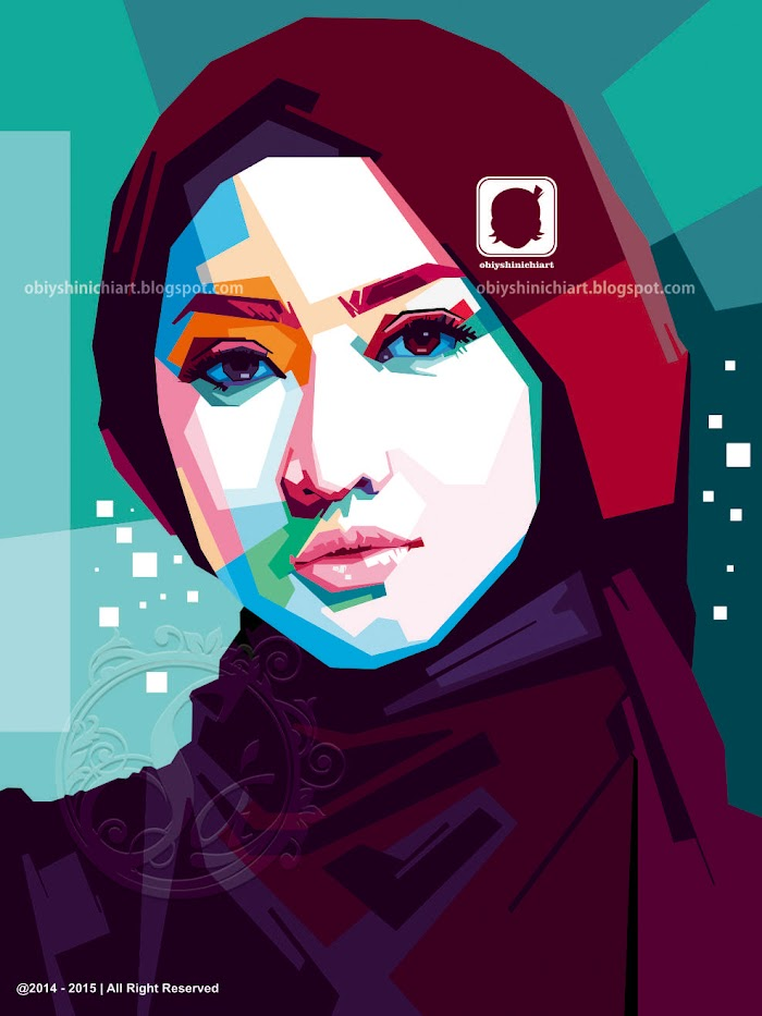 Beauty hijab in wpap by obiy shinichi art