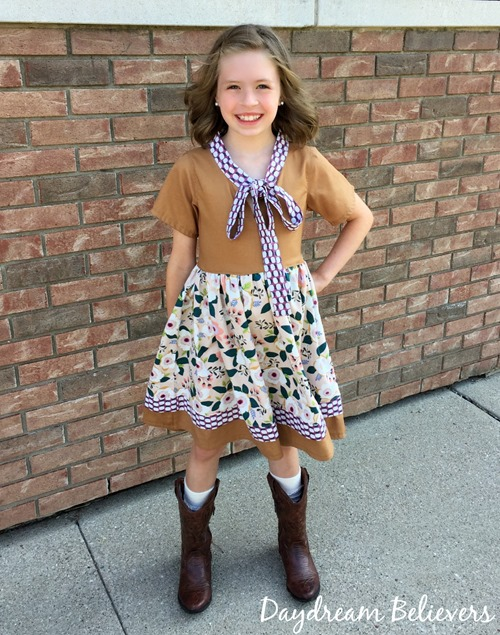 Daydream Believers Designs for CKC Talia Tie Neck Dress for Girls