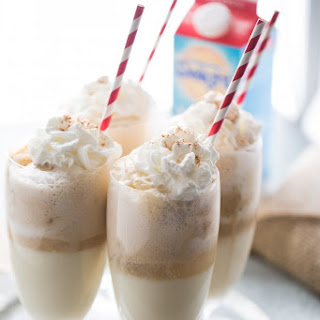Eggnog Ice Cream Float
