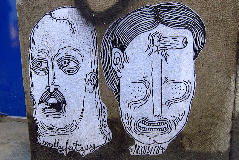 wheatpaste portraits