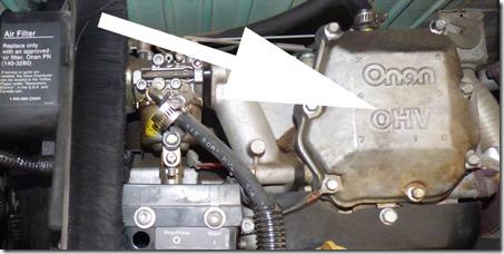 Onan MicroQuiet 4000 Generator, engine casing