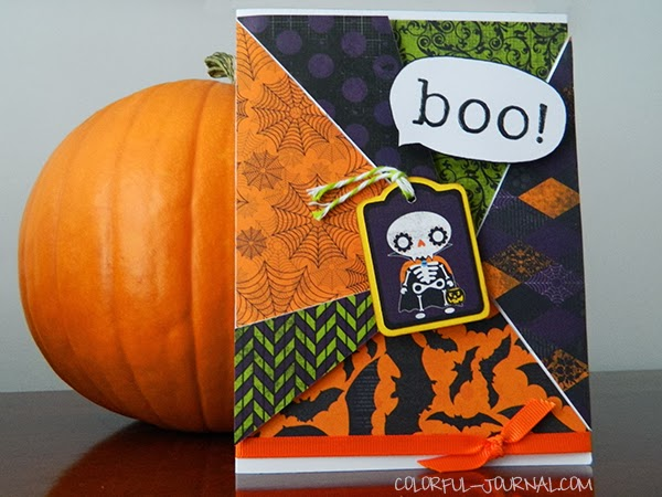 halloween card bo bunny Fright Delight paper