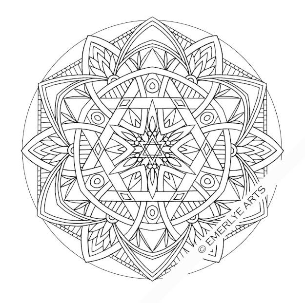 Images About Mandalas Coloring On Pinterest  Mandalas