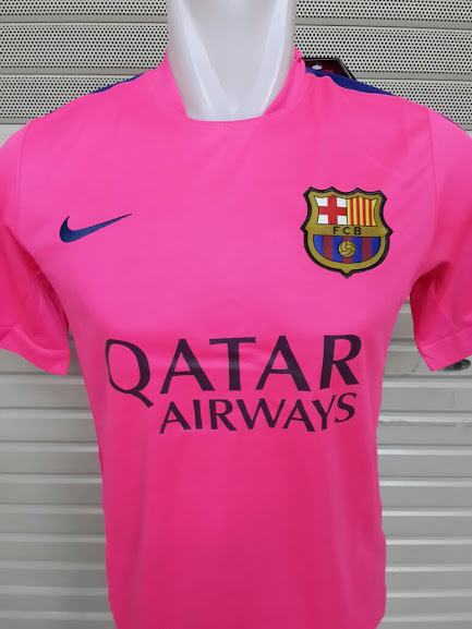 Jersey Training Barcelona Pink Terbaru 2014-2015 Official