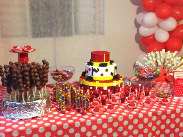 festa,decoração,aniversário,minnie