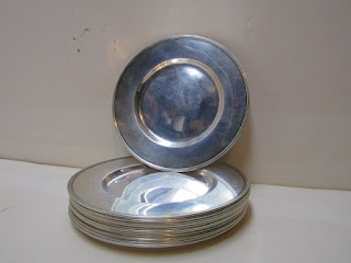 Set of 12 Sterling Silver Plates