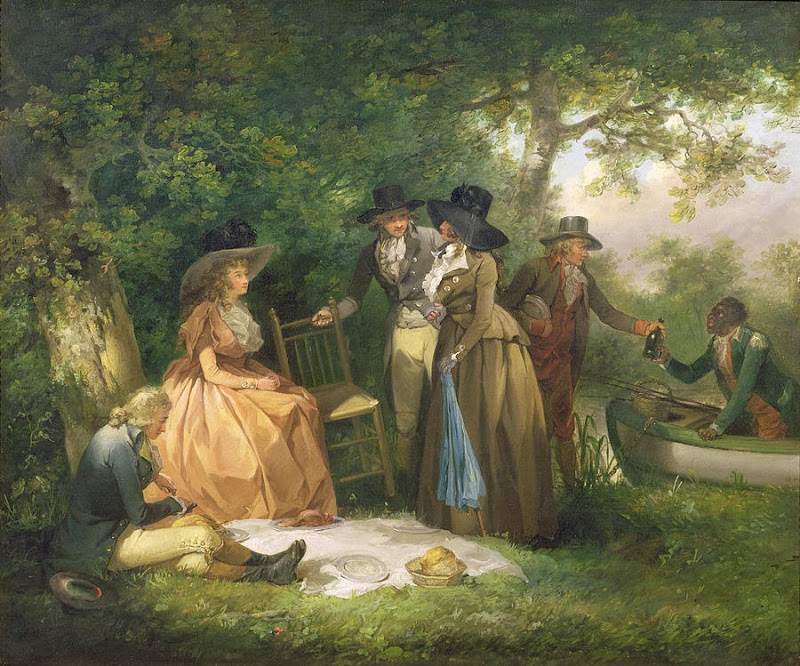 George Morland - The Angler's Repast