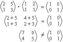 como calcular matriz inversa