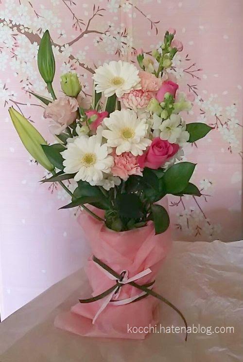 実家に届いた花束