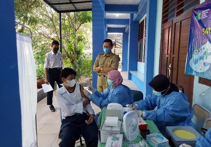 SMP N 9 Balikpapan Telah Vaksin 630 Siswa