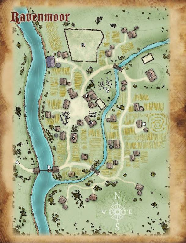 Mapa Ravenmoor