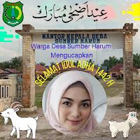 Bingkai Twibbon  Idul Adha 1442 H Tahun 2021 Warga Desa Sumber Harum