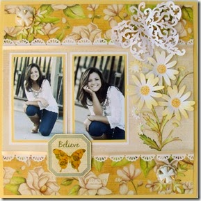 Die Cut And Punches Scrapbook Layouts