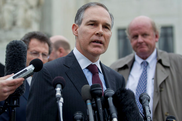 Scott Pruitt, Trump nominee to head the Environmental Protection Agency (EPA), has sued the EPA 13 times. Bloomberg via Getty Images