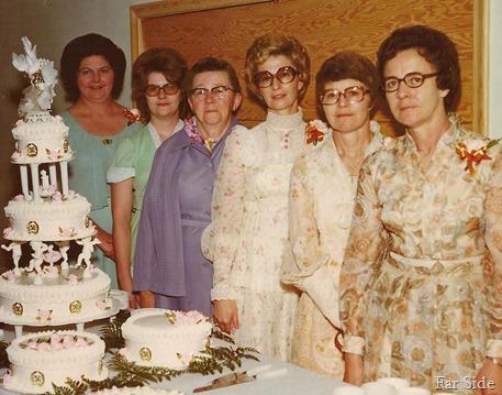 Toots Karen Elsie Skip Madeline Marion 1977 Drewes 50th Anniversary