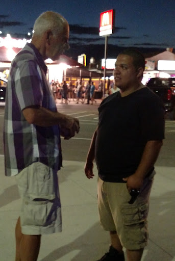 "Eric had a fruitful conversation with a Spanish-speaking man. Eric gave him a copy of ""The Gospel of John"" in Spanish."