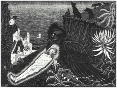 По гипотезе Леви-Стросa, употребление в пищу падали Вороном способствует его функционированию в мифах как «культурного героя»