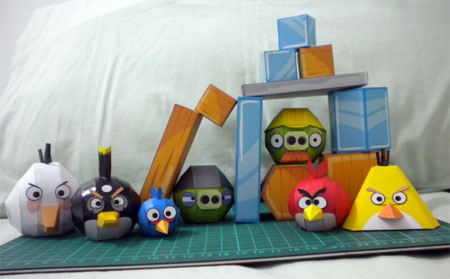 Angry Birds Papercraft Blocks