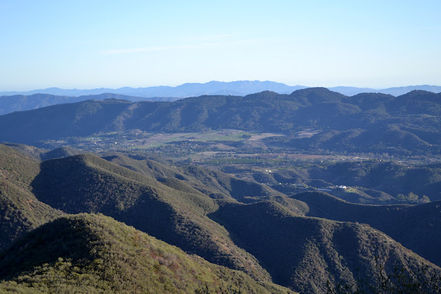 south to Upper Ojai Valley