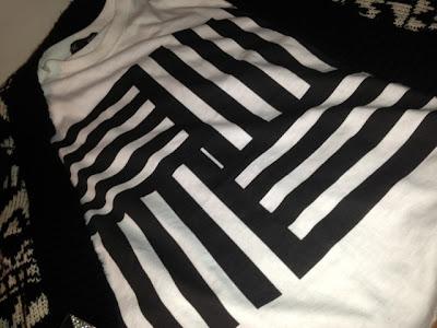 Topshop Geometric Print T-shirt
