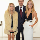 WWW.ENTSIMAGES.COM -   Olivia Cox , Jamie Bradshaw and Kimberley Garner    at   Julio Larraz - Rules of Engagement - private view at Contini Art UK, London October 2nd 2014Private view of exhibition devoted to the paintings by Cuban born artist Julio Larraz, his first major solo exhibition in London, featuring paintings, sculptures and caricatures.                                                Photo Mobis Photos/OIC 0203 174 1069