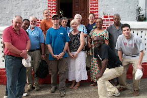Outside the first Methodist church in Africa