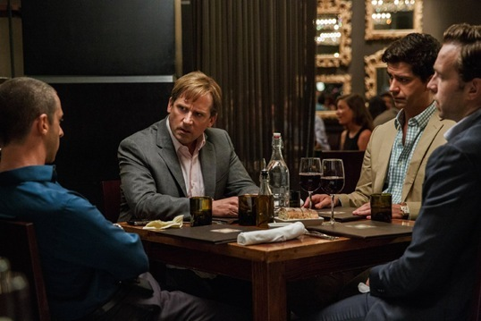Steve Carell, Hamish Linklater, Jeremy Strong, Rafe Spall in The Big Short
